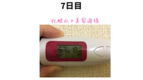 カカオ美容液の測定結果7日目