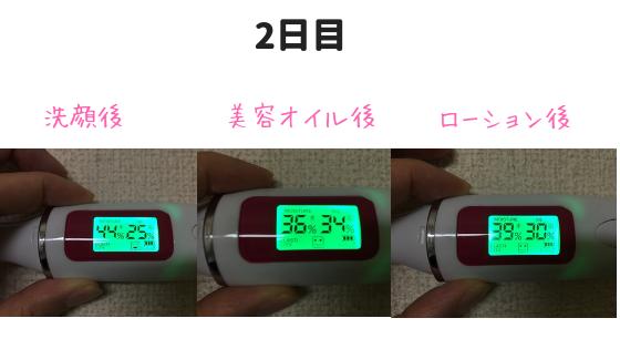 鈴木ハーブ研究所ローション効果検証2日目