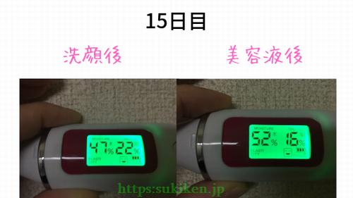 卵殻膜エキス美容液効果検証15日目