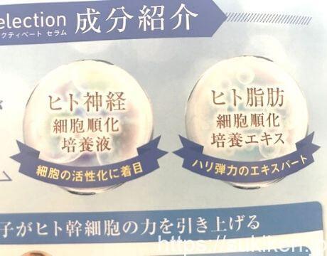 リセレクションはヒト幹細胞が2種類配合